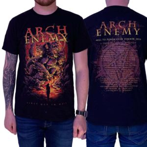 Arch Enemy, T-Shirt, First Day In Hell Tour Summer 2019