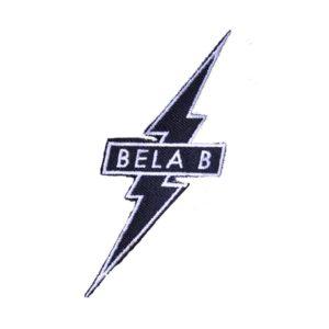 Bela B, Aufnäher, Blitz schwarz