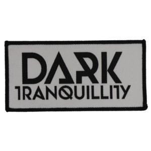 Dark Tranquillity, Aufnäher, Logo weiß