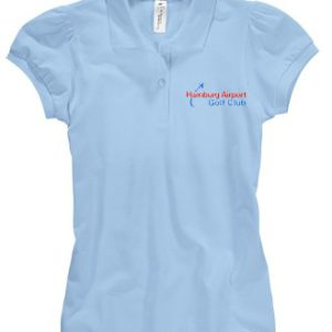 Frauen Polo-Hemd Kurzarm, himmelblau