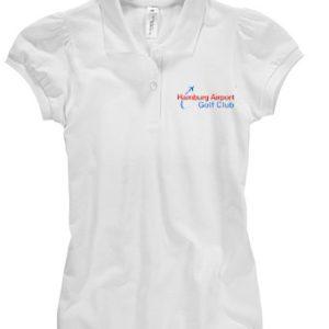 Frauen Polo-Hemd Kurzarm, weiss