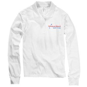 Frauen Polo-Hemd Langarm, weiss