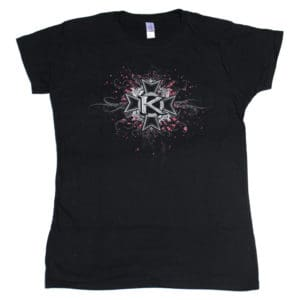 Kamelot, Girlie Shirt, Splatter Logo