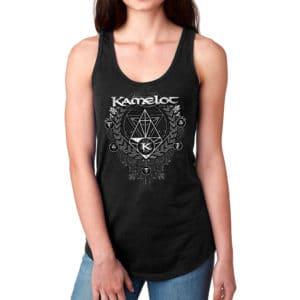 Kamelot, Racerback Girl Shirt, schwarz