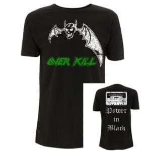 Overkill, T-Shirt, Power in Black
