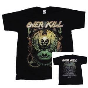 Overkill, T-Shirt, Tour 2017, Gear Bat