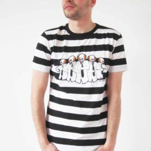 The Young Punx!, T-Shirt, Stripes, black/white