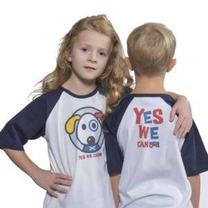 yeswecan!cer, Kids Shirt, Raglan, blau
