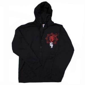 Evergrey, Zip-Hooded, Red Heart