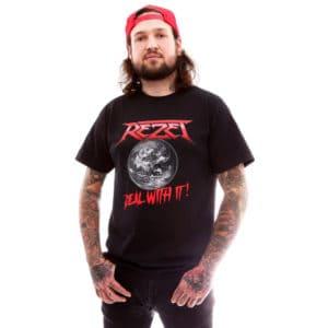 Rezet, T-Shirt, Deal With It, schwarz